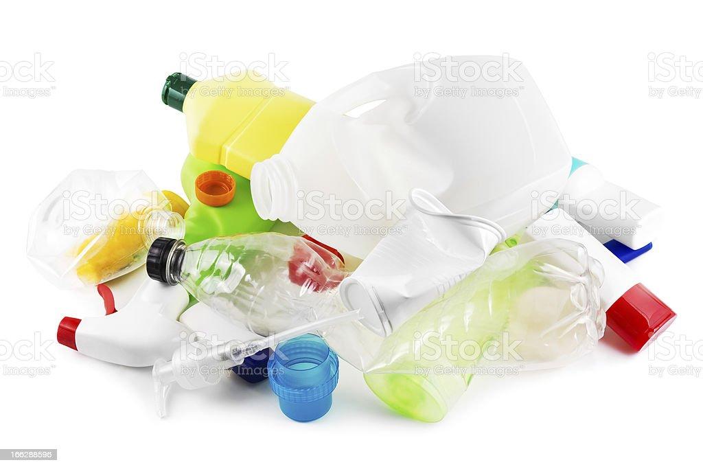 Plástico de basura - foto de stock
