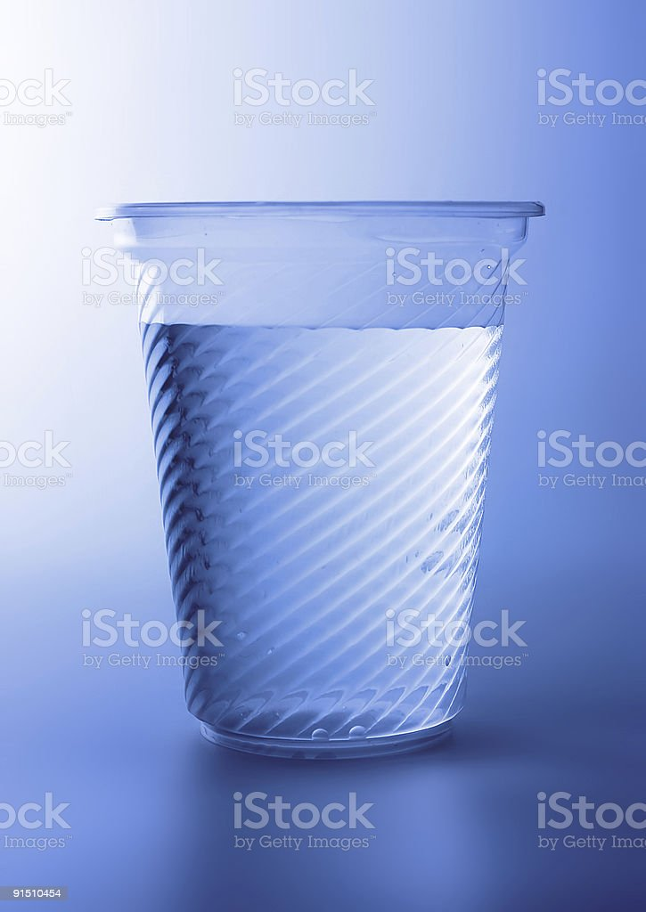 Plastic glass of water