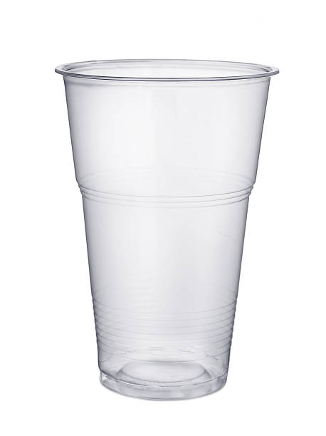 Plastic glass stock photo