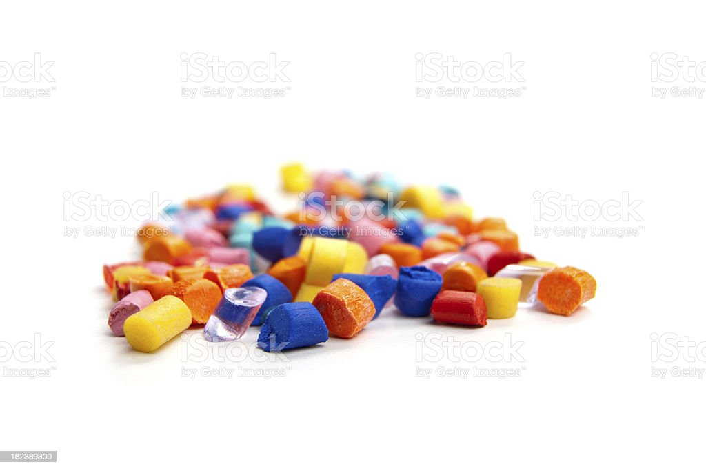 Plastic Grains - industry royalty-free stock photo