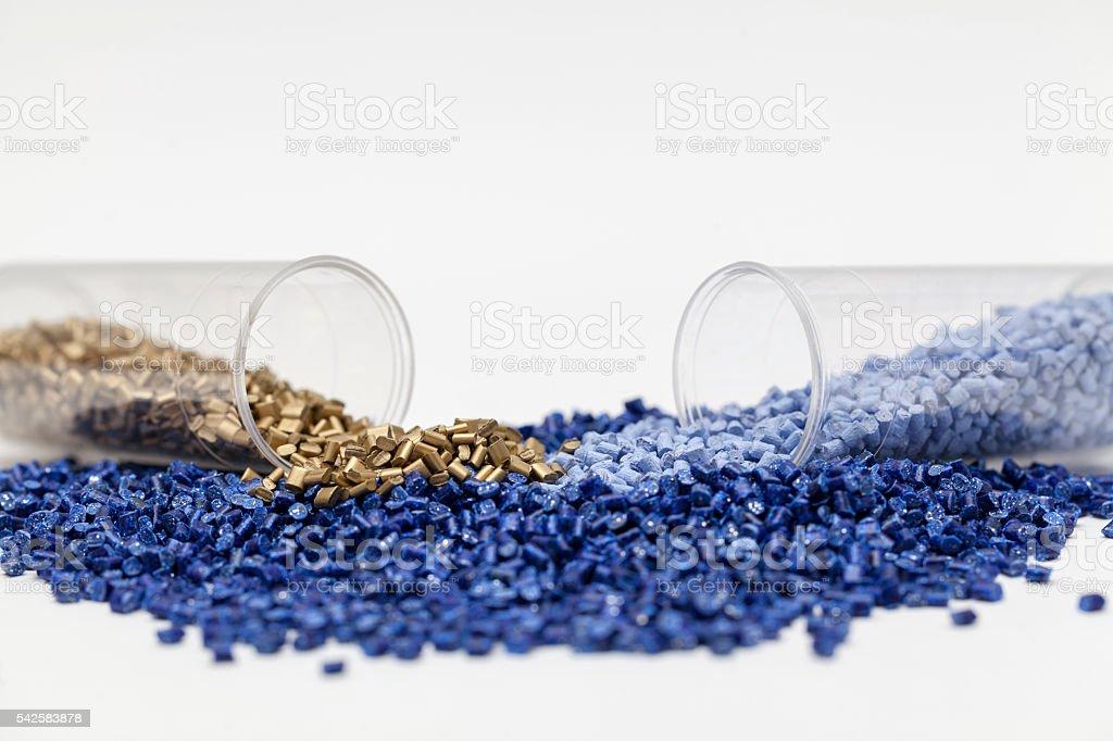 plastic granules close up - Lizenzfrei Bildhintergrund Stock-Foto