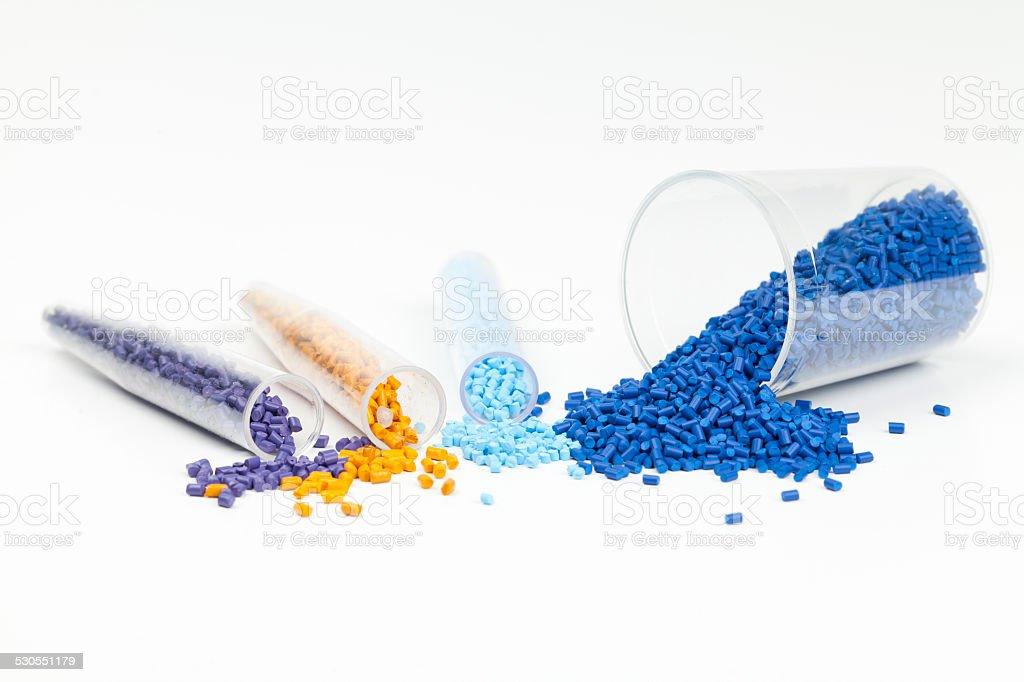 plastic granules stock photo