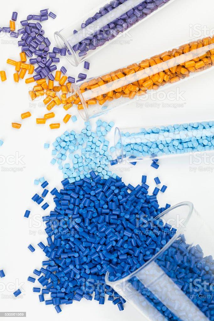 Kunststoff-Körnchen - Lizenzfrei Plastikmaterial Stock-Foto