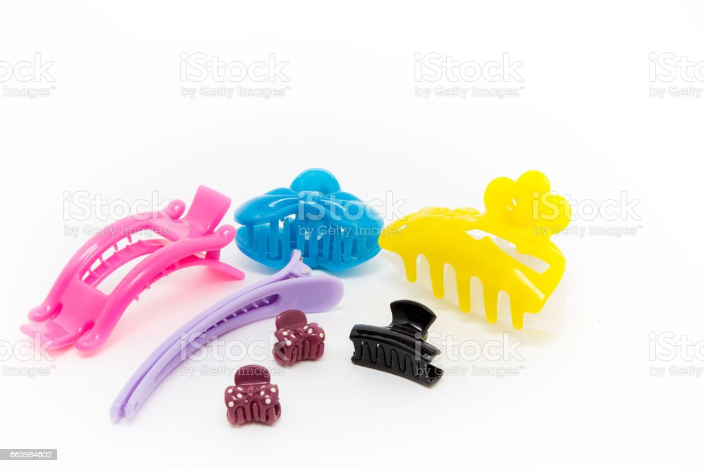 Plastic Hair Clip isolated stock photo