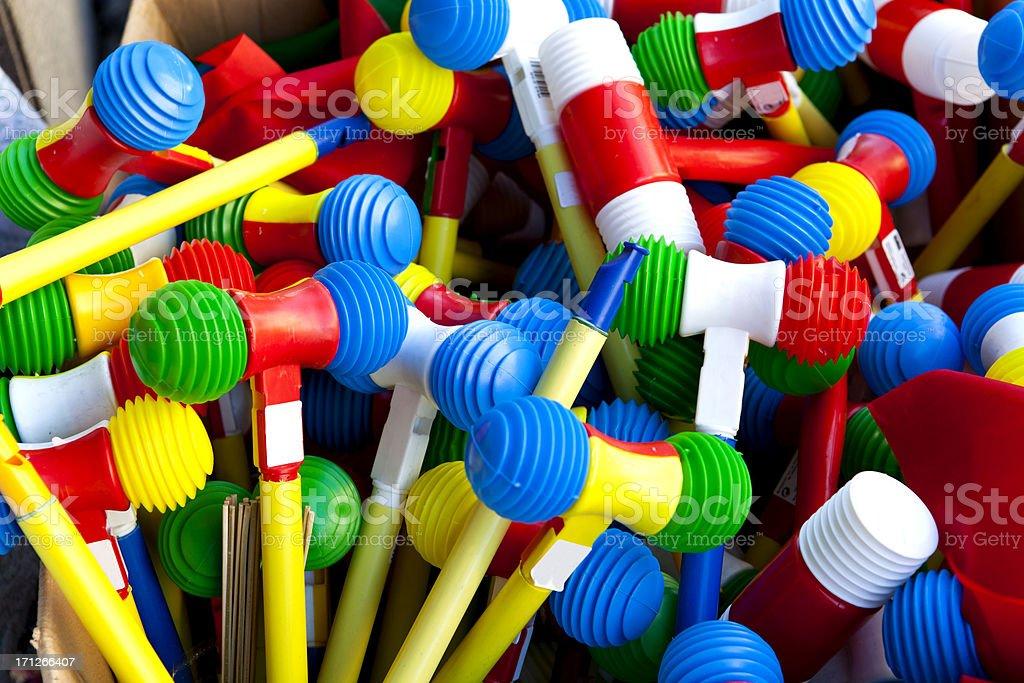 Plastic Hamer stock photo
