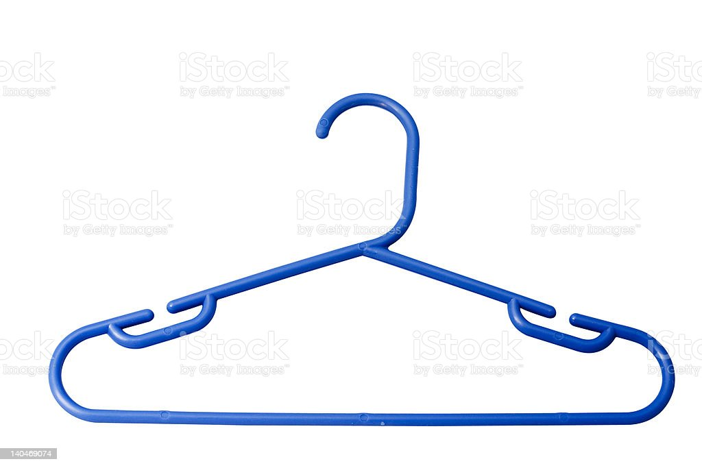 plastic hanger stock photo