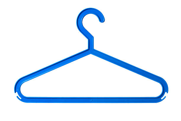 Plastic hanger stock photo