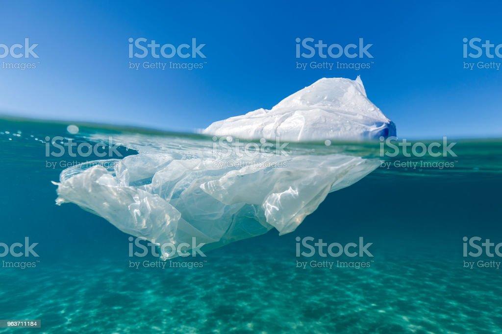 Plastic Iceberg stock photo