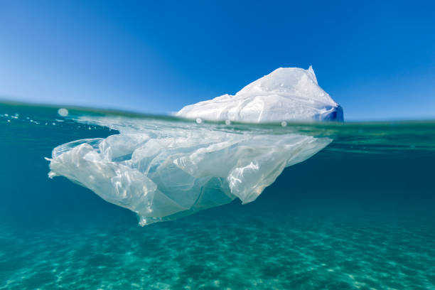 plastic iceberg - ocean plastic stock pictures, royalty-free photos & images