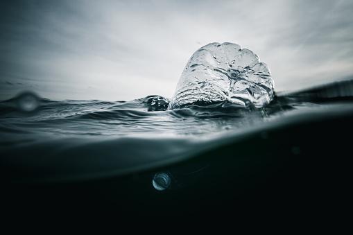 Plástico En El Océano Foto de stock y más banco de imágenes de Agua