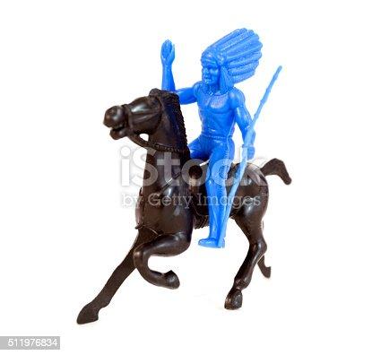 istock Plastic Indian on Horse 511976834