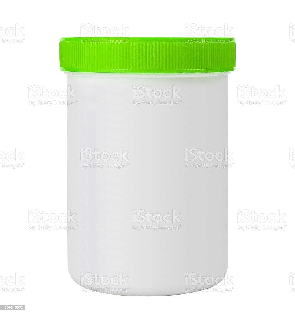 Plastic jar isolated on white royalty-free stock photo