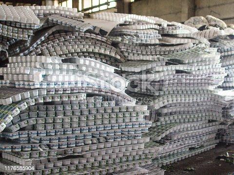 Plastic jars, bottles for garbage processing, plastic, garbage