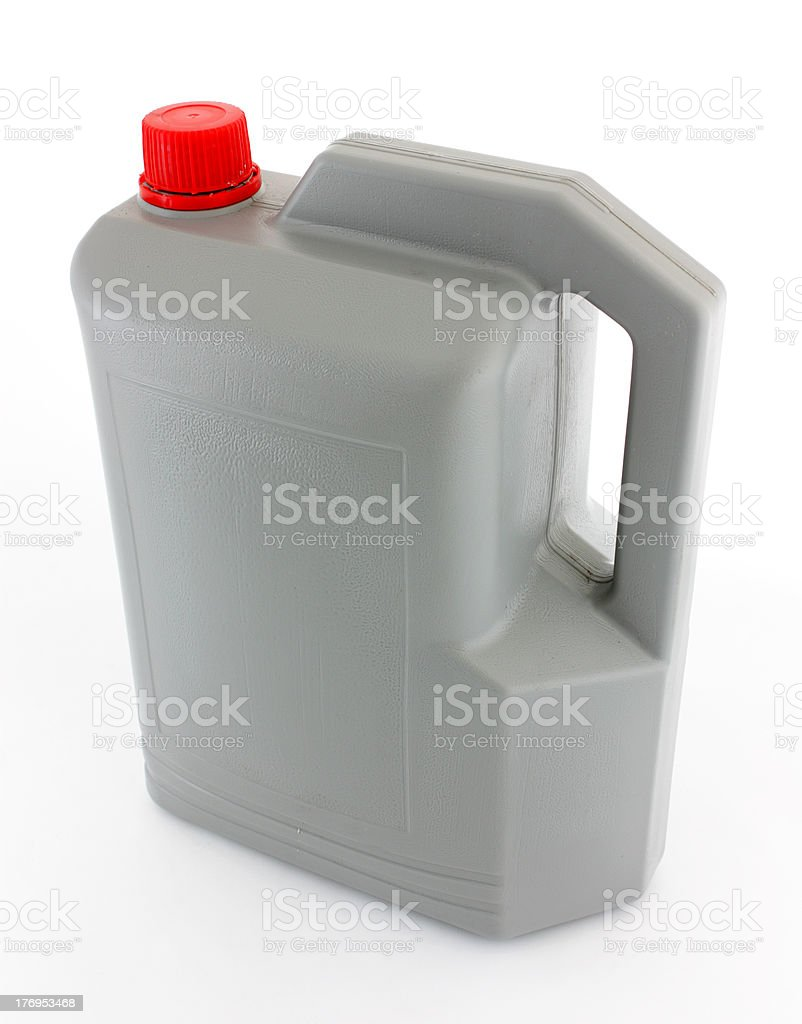 Plastic Jerry Can stock photo