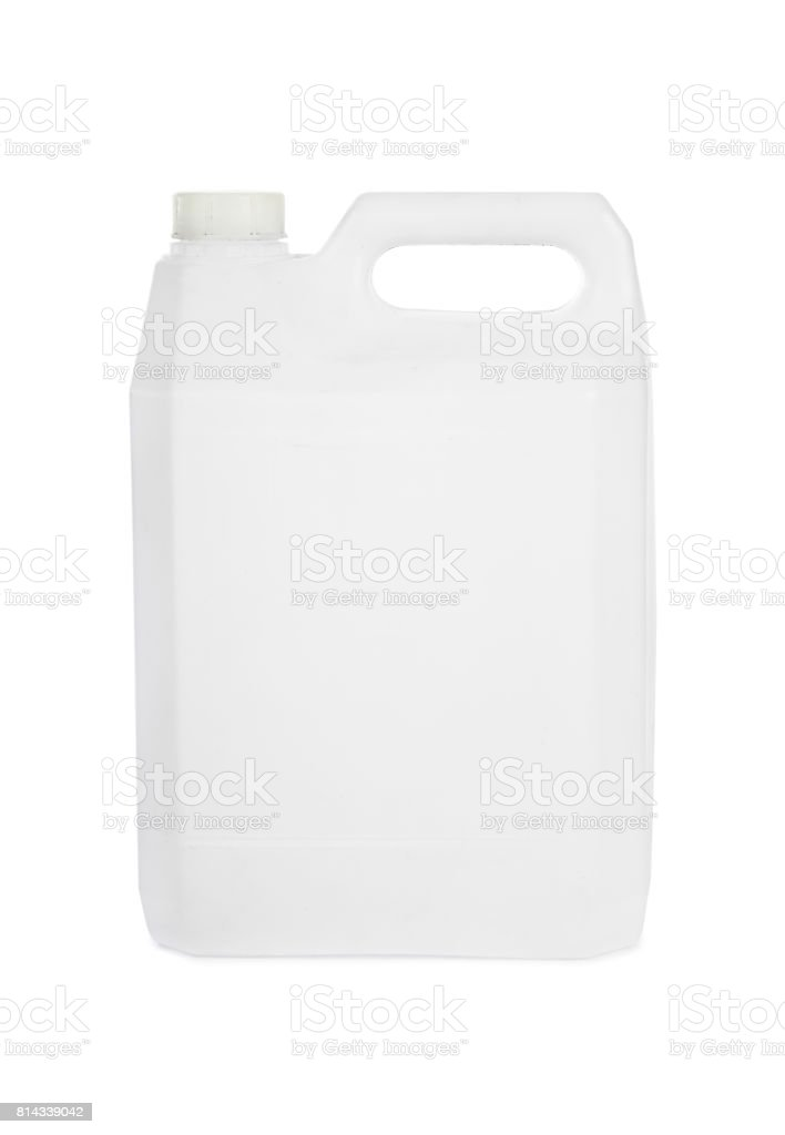 Plastic jerrycan stock photo