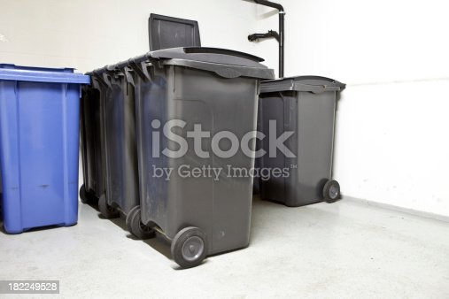 istock Plastic junk containers 182249528