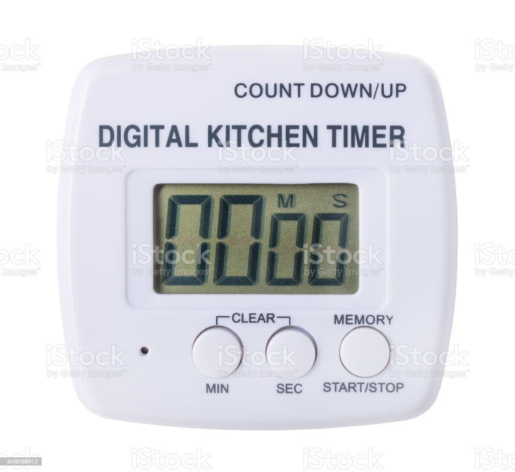plastic kitchen digital timer stock photo