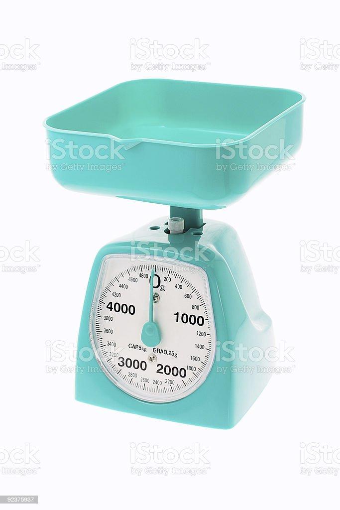 Plastic kitchen scale royalty-free stock photo