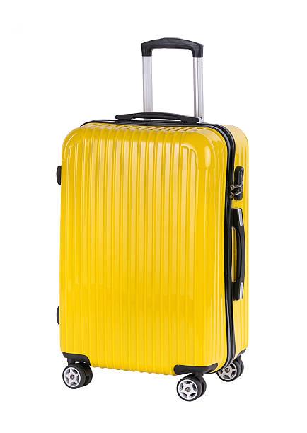 Plastic large suitcase stock photo