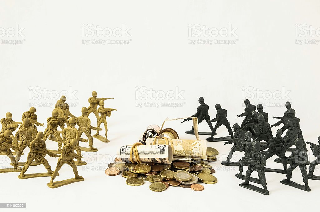 Plastic Lead Soldiers royalty-free stock photo