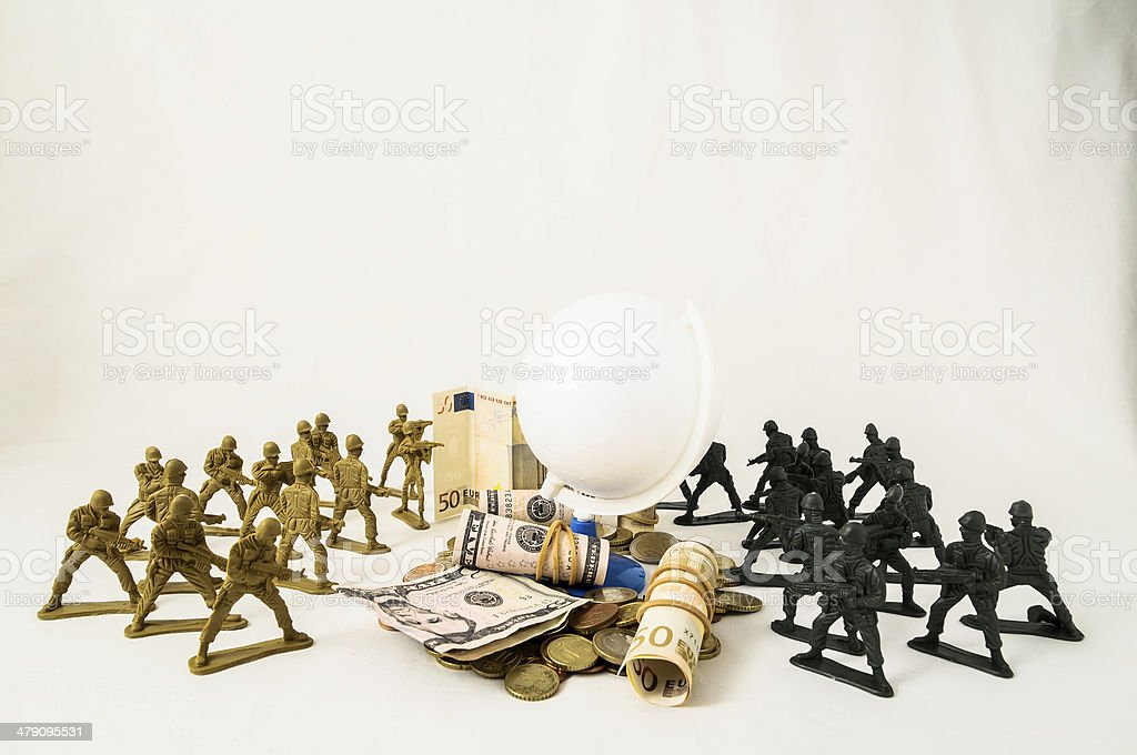 Plastic Lead Soldiers stock photo