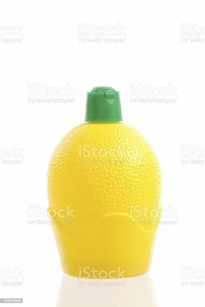 Plastic lemon royalty-free stock photo
