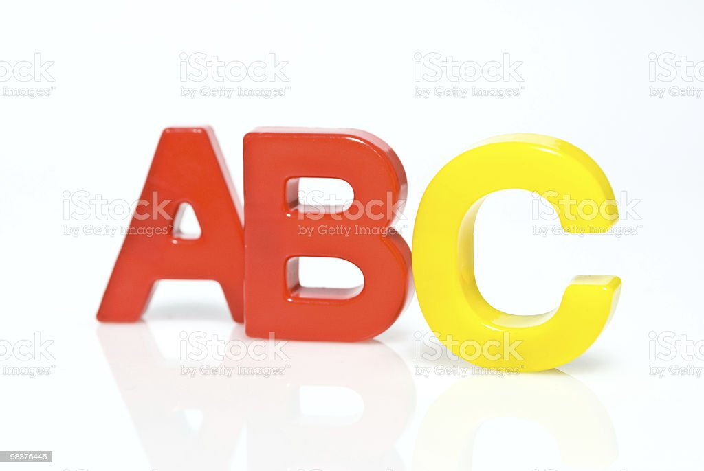 Plastic letters abc royalty-free stock photo