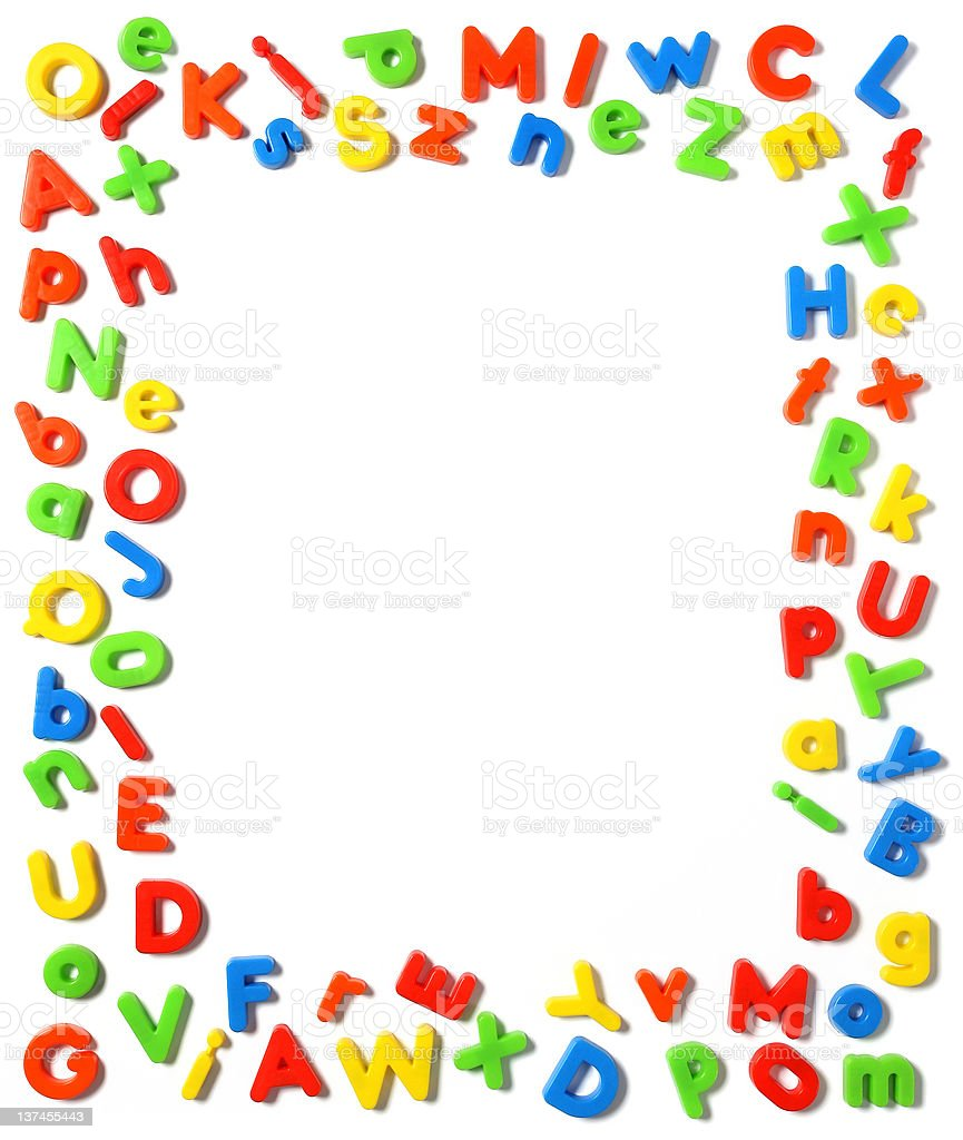 plastic letters royalty-free stock photo