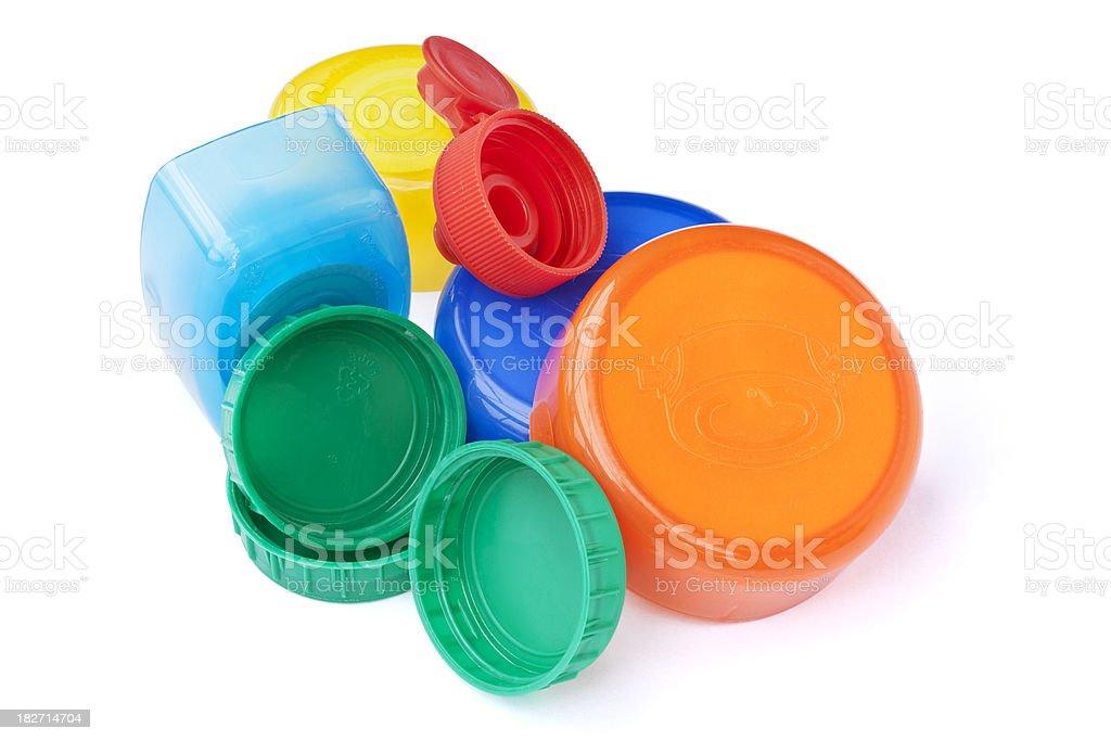 Plastic Lids stock photo