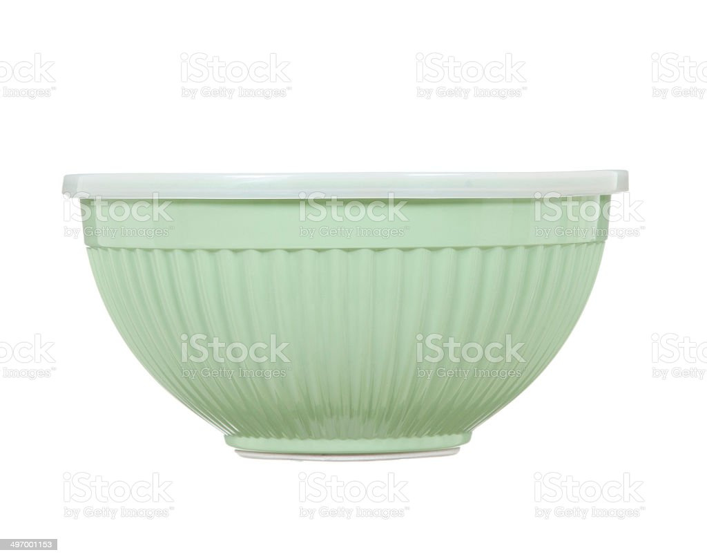 Plastic Mixing Bowl Isolated stock photo
