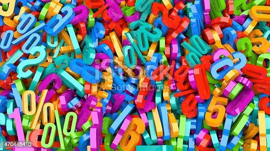 istock Plastic Numbers 470445410