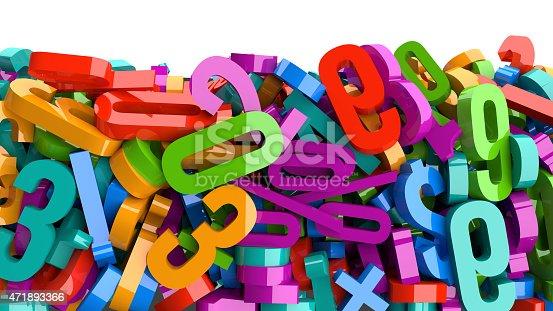 istock Plastic Numbers 471893366