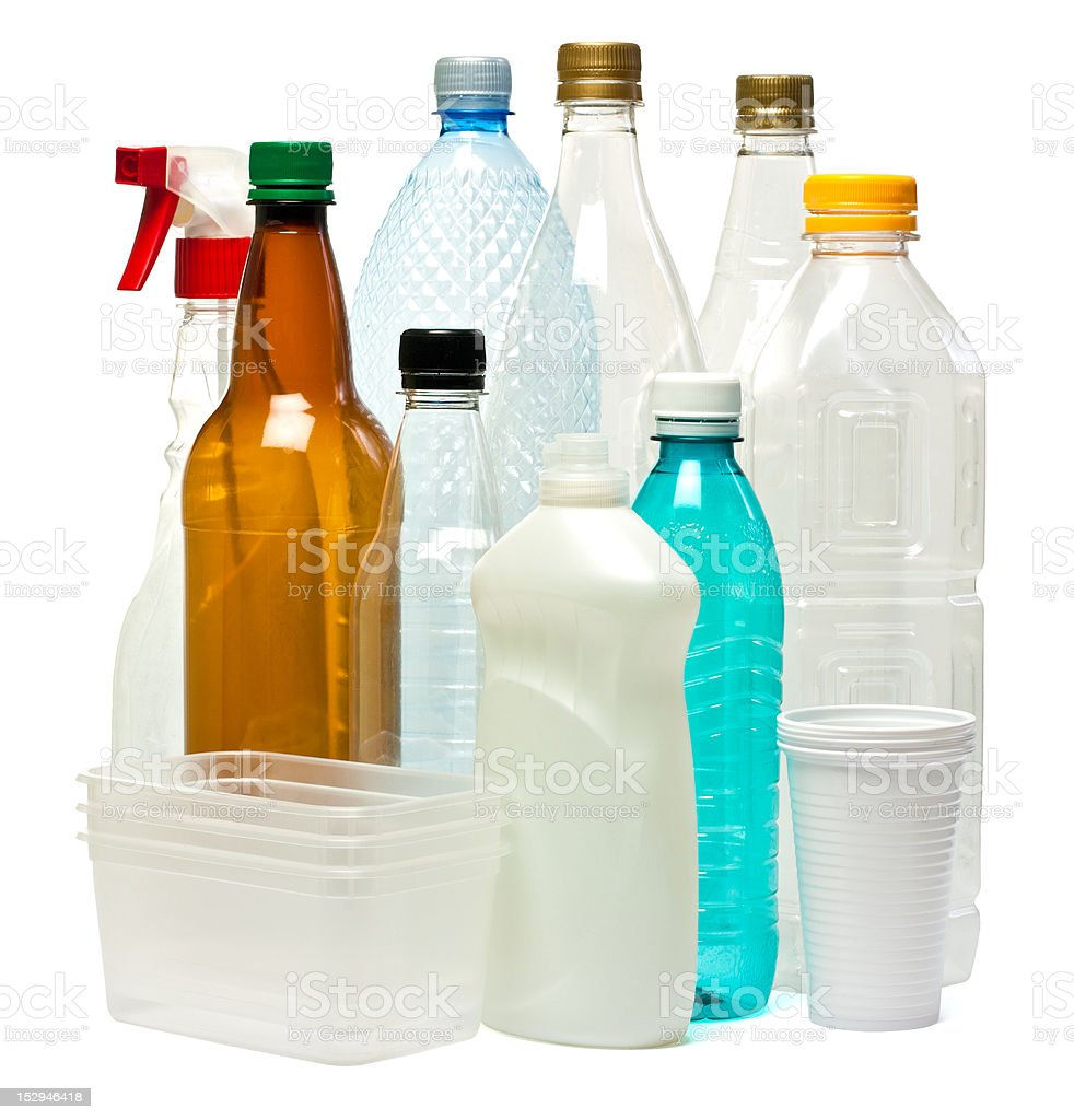 Plastic objects royalty-free stock photo