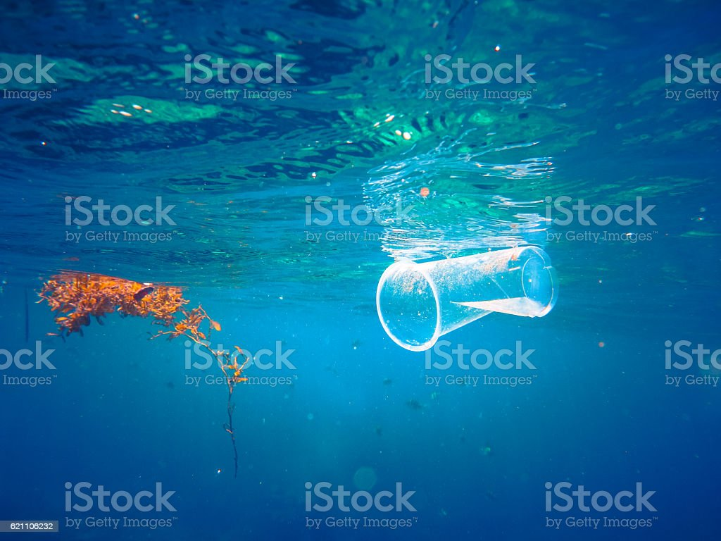 Plastic Ocean Pollution Global Environmental Ecological Issue – Foto