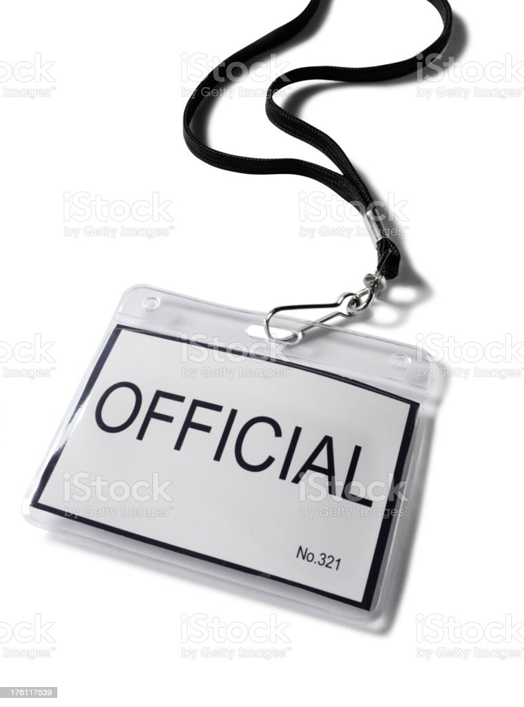 Plastic Official Badge stock photo