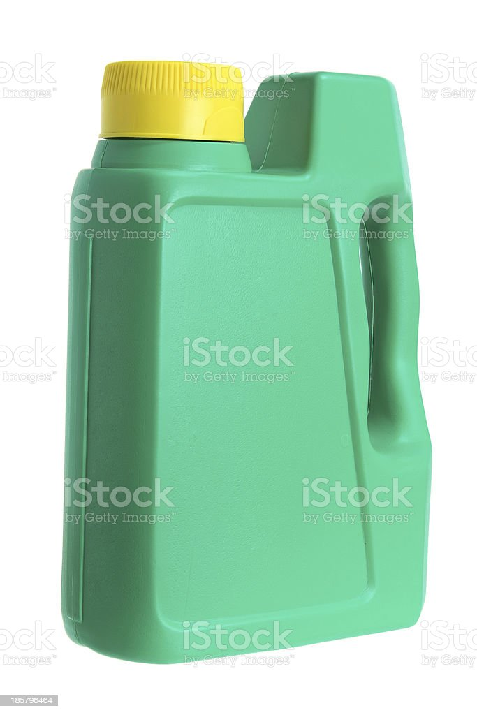 Plastic Oil Bottle stock photo