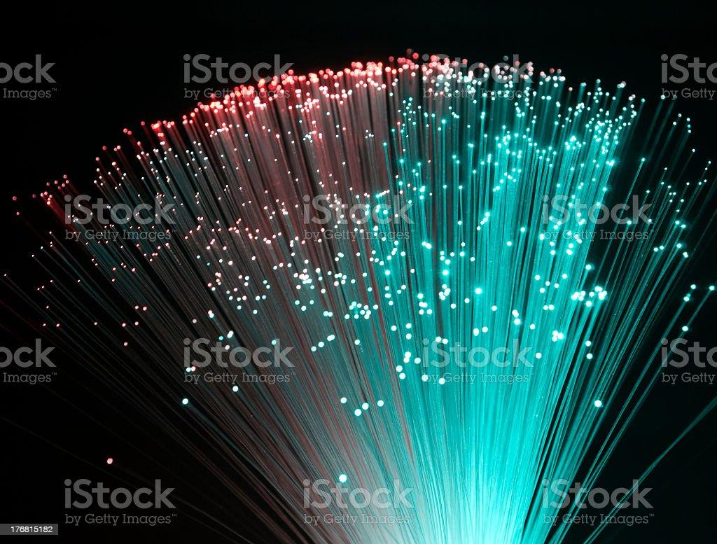 Plastic optical fiber stock photo