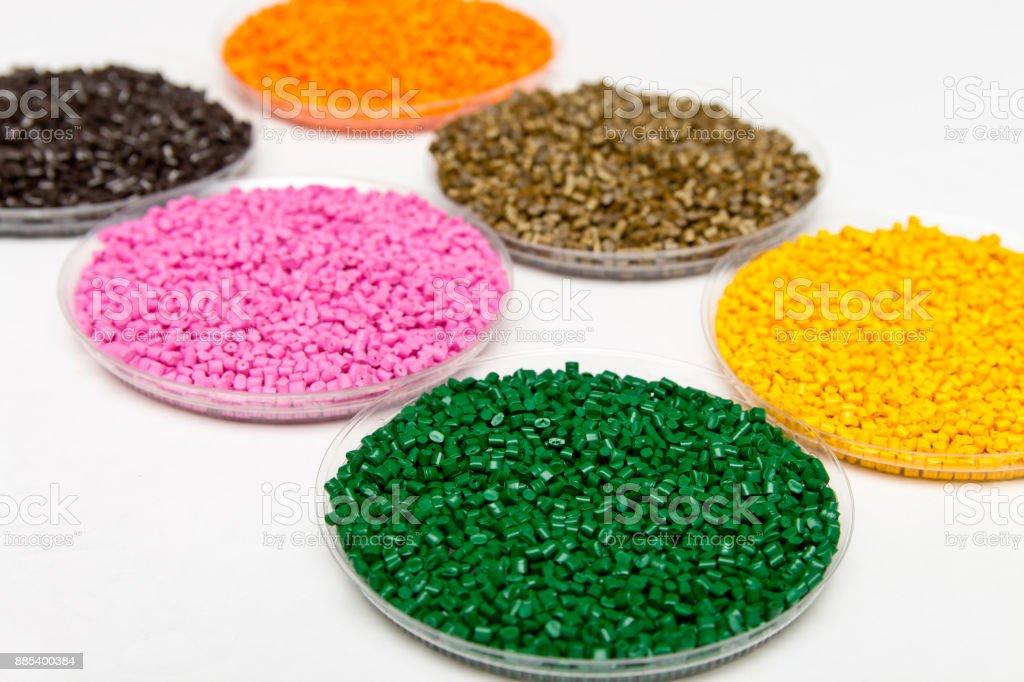 Fotografía de Pellets De Plástico Gránulos De Colorante Polimérico в ...