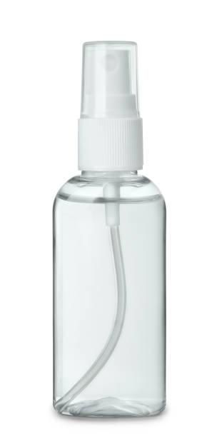 plastic perfume spray bottle - spruzzo profumo foto e immagini stock