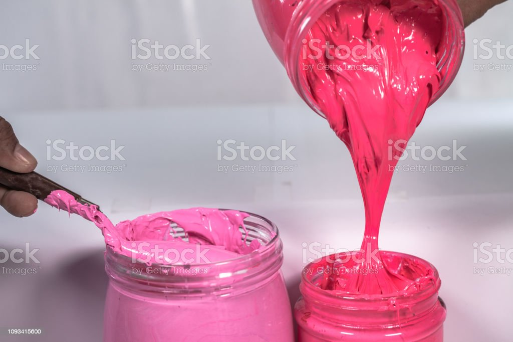 Plastic Pink Color And Hot Pink Color For Print Tee Shirt Stock Photo -  Download Image Now