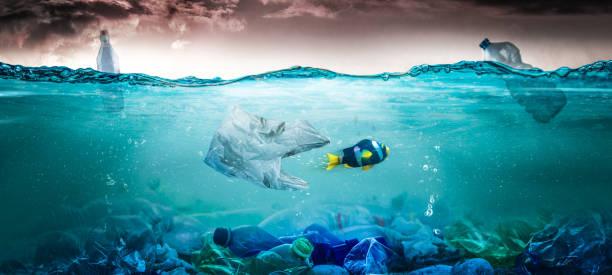 Plastic Pollution Concept stock photo