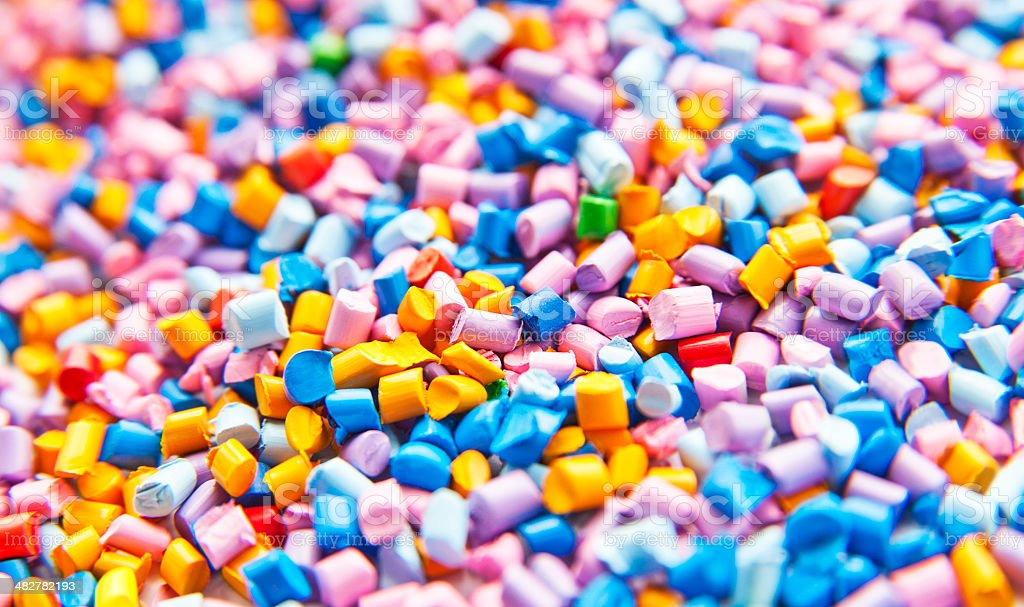 Gránulos de plástico, polímero - foto de stock