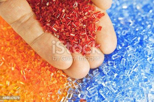 688536850 istock photo plastic polymer granules 489542679
