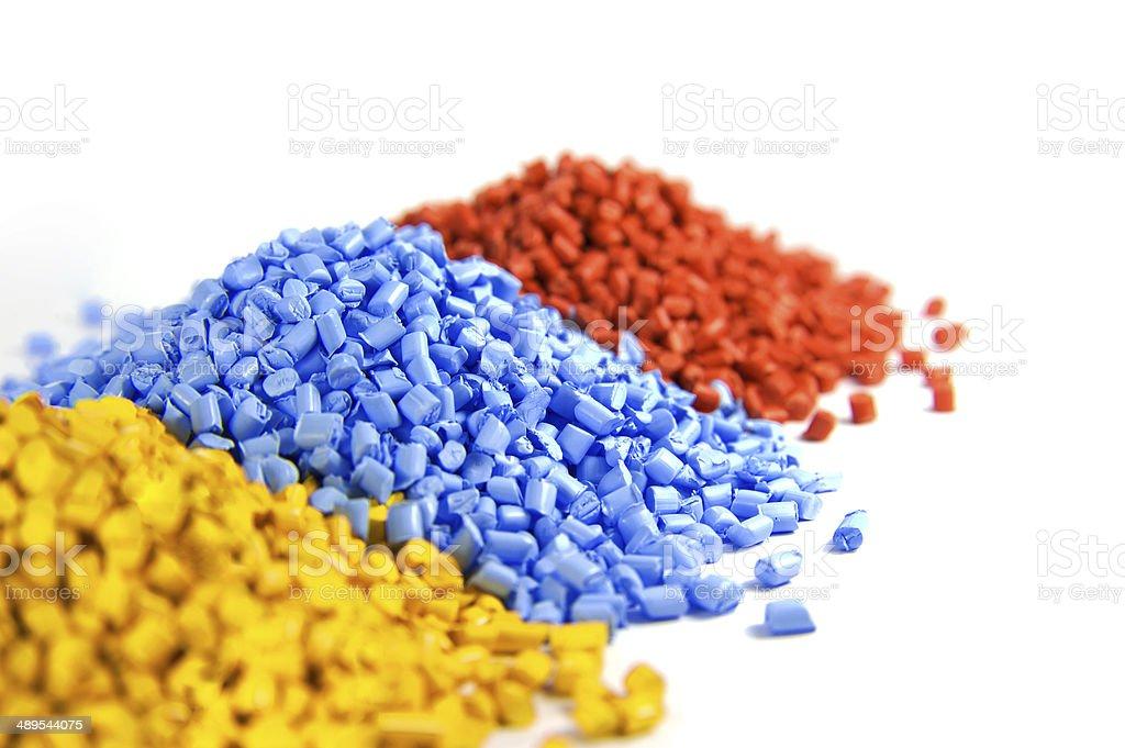 plastic polymer granules stock photo
