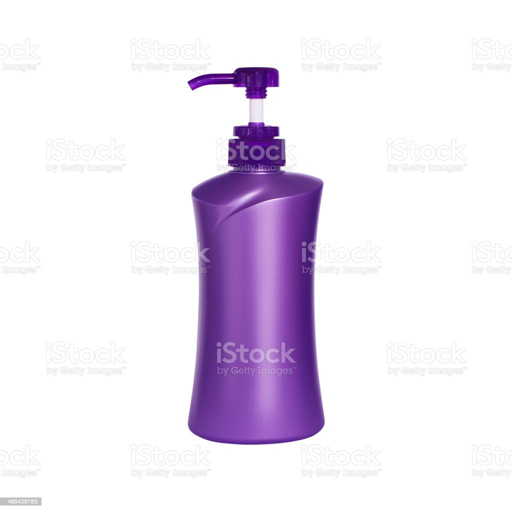 Plastic pump soap bottle without label isolated on white backgro royalty-free stock photo