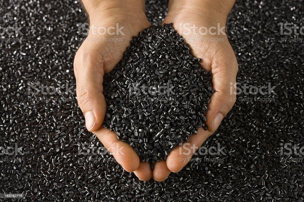 Plastic Resin Pellets stock photo