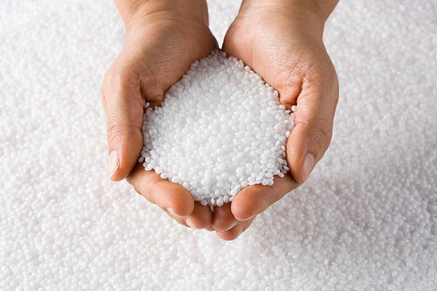Plastic Resin Pellets stock photo