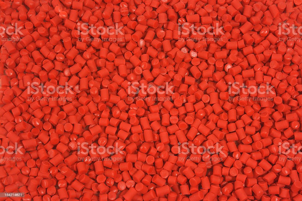 Plastic Resin Red royalty-free stock photo