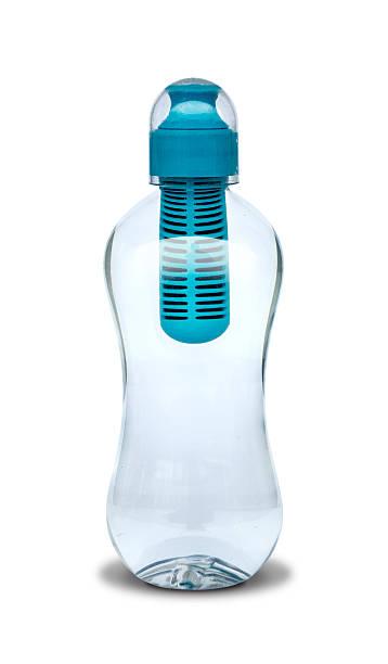 plastic reusable water bottle - riutilizzabile foto e immagini stock