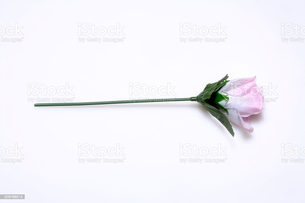 Plastic rose, elevated view stock photo